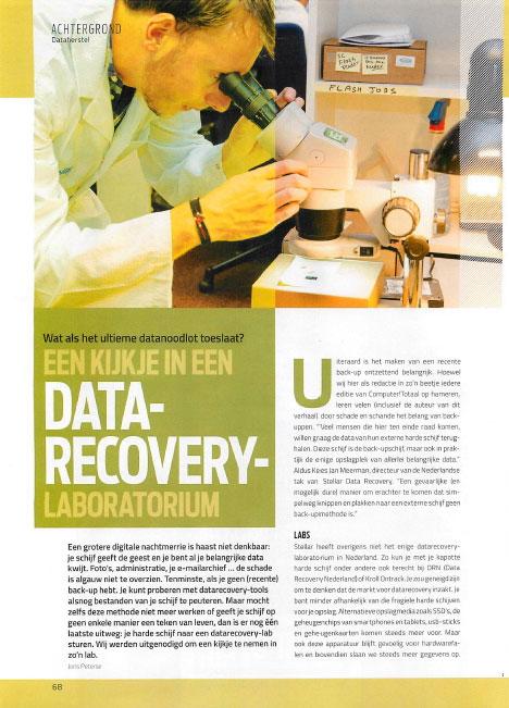 een kijkje in een Data Recovery Laboratorium – Computer!Totaal