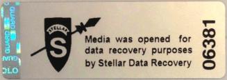 garantie blijft behouden na data recovery met dit garantiezegel