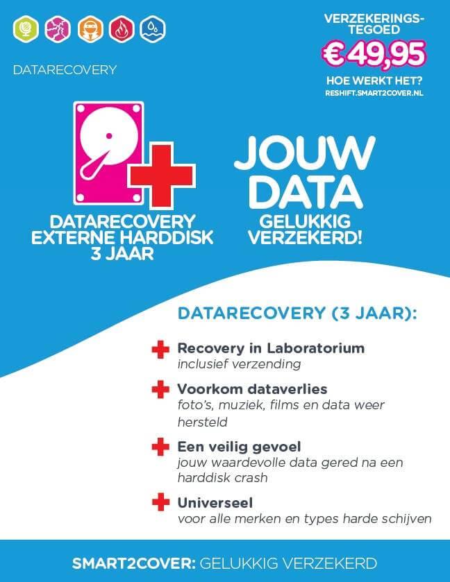 data recovery verzekering harde schijf 3 jaar dekking