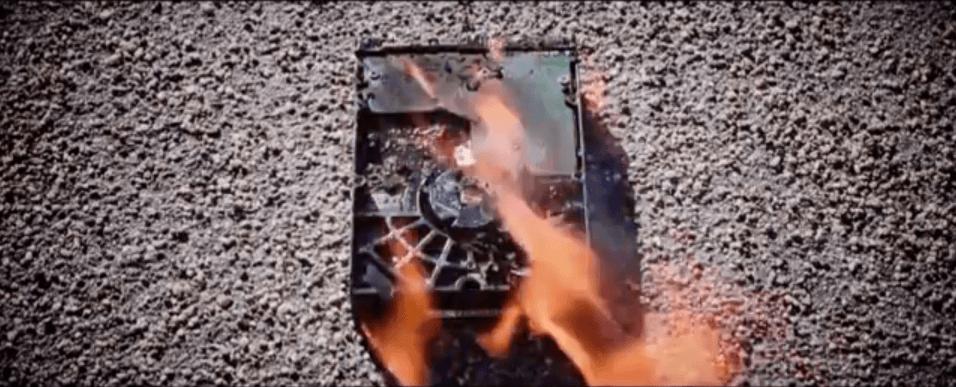 data vernietigen door de harde schijf te verbranden