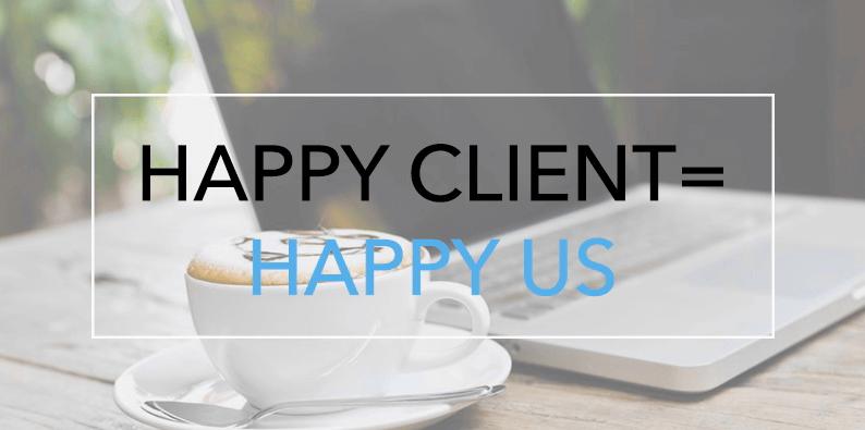 Tevreden klanten maken ons gelukig