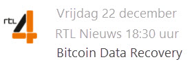 Stellar Data Recovery op RTL4 - RTL Nieuws - Bitcoin Data Recovery